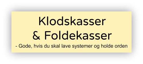 Klodskasser - IDE:SIGN