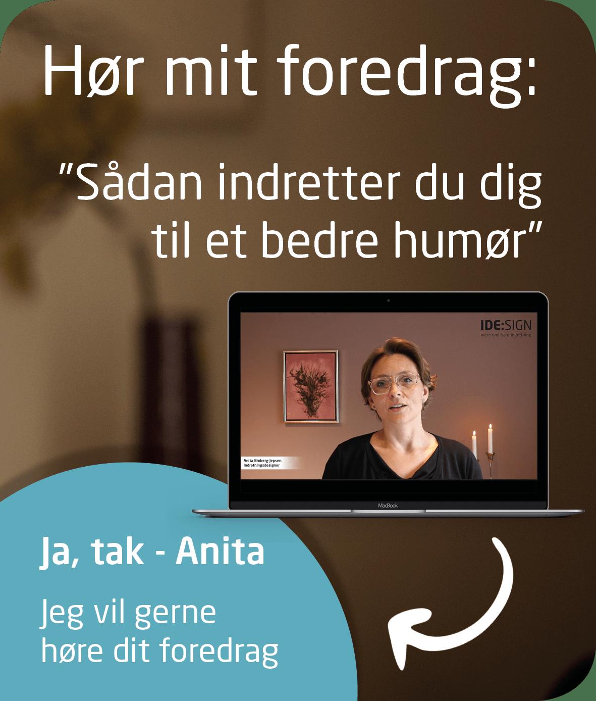 Få Anita's foredrag