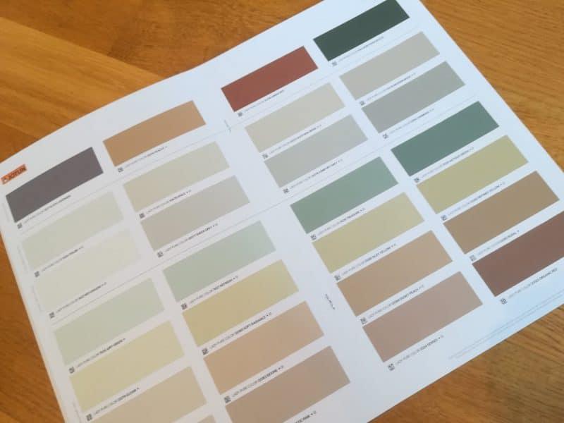 En masse lækre farverprøver - IDESIGN